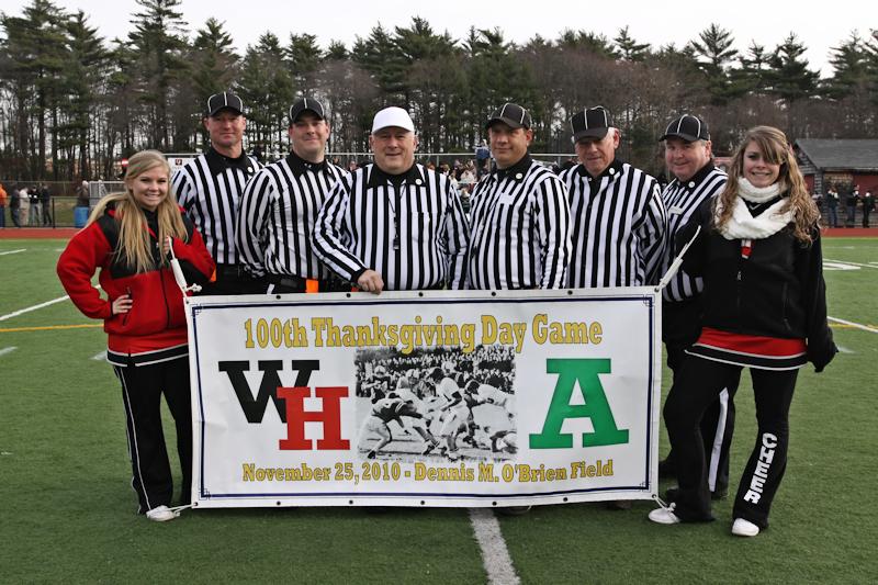 Abington vs. Whitman-Hanson 100th Game Officials