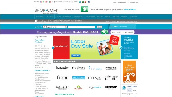 Shop.com home page image